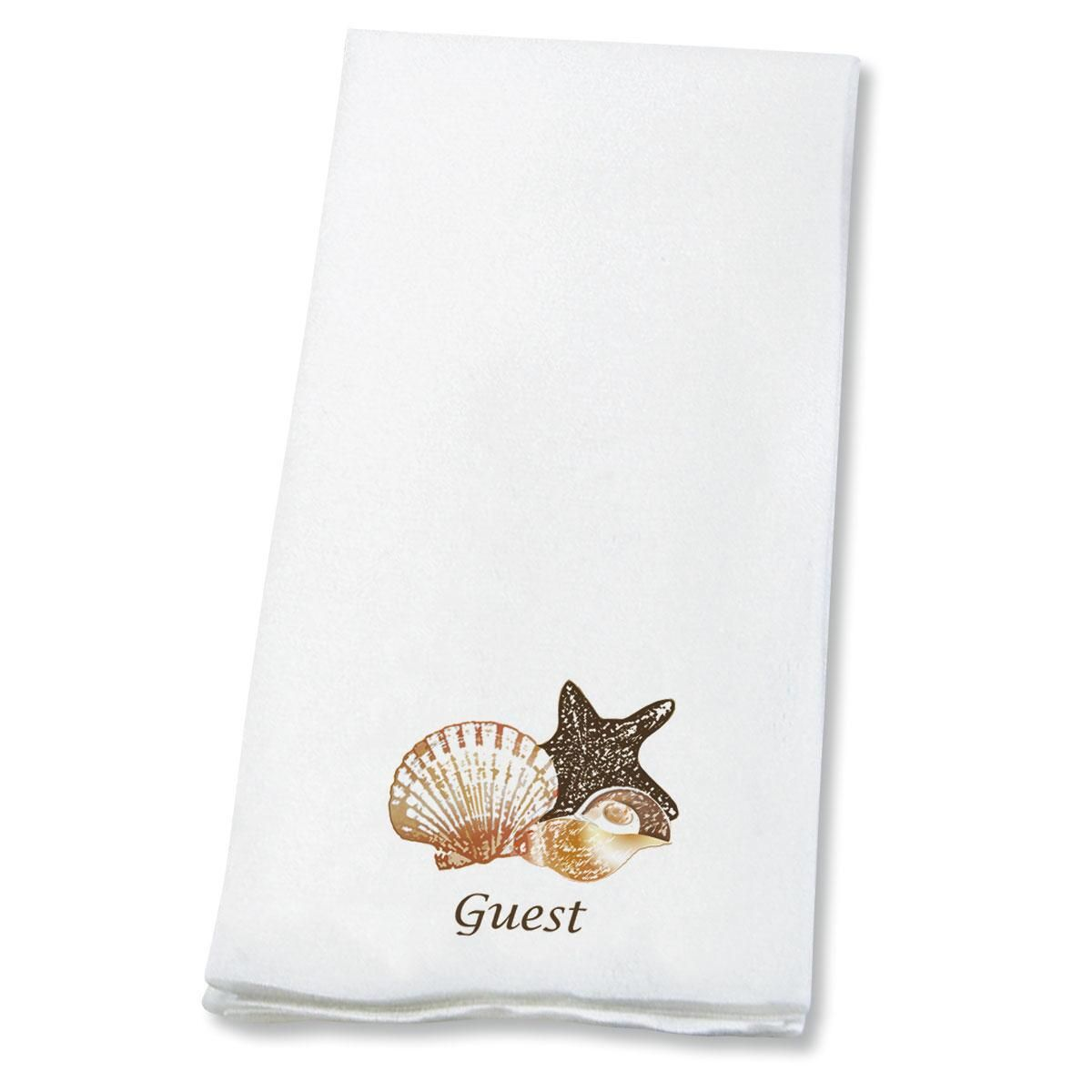 Seashells Disposable Hand Towels