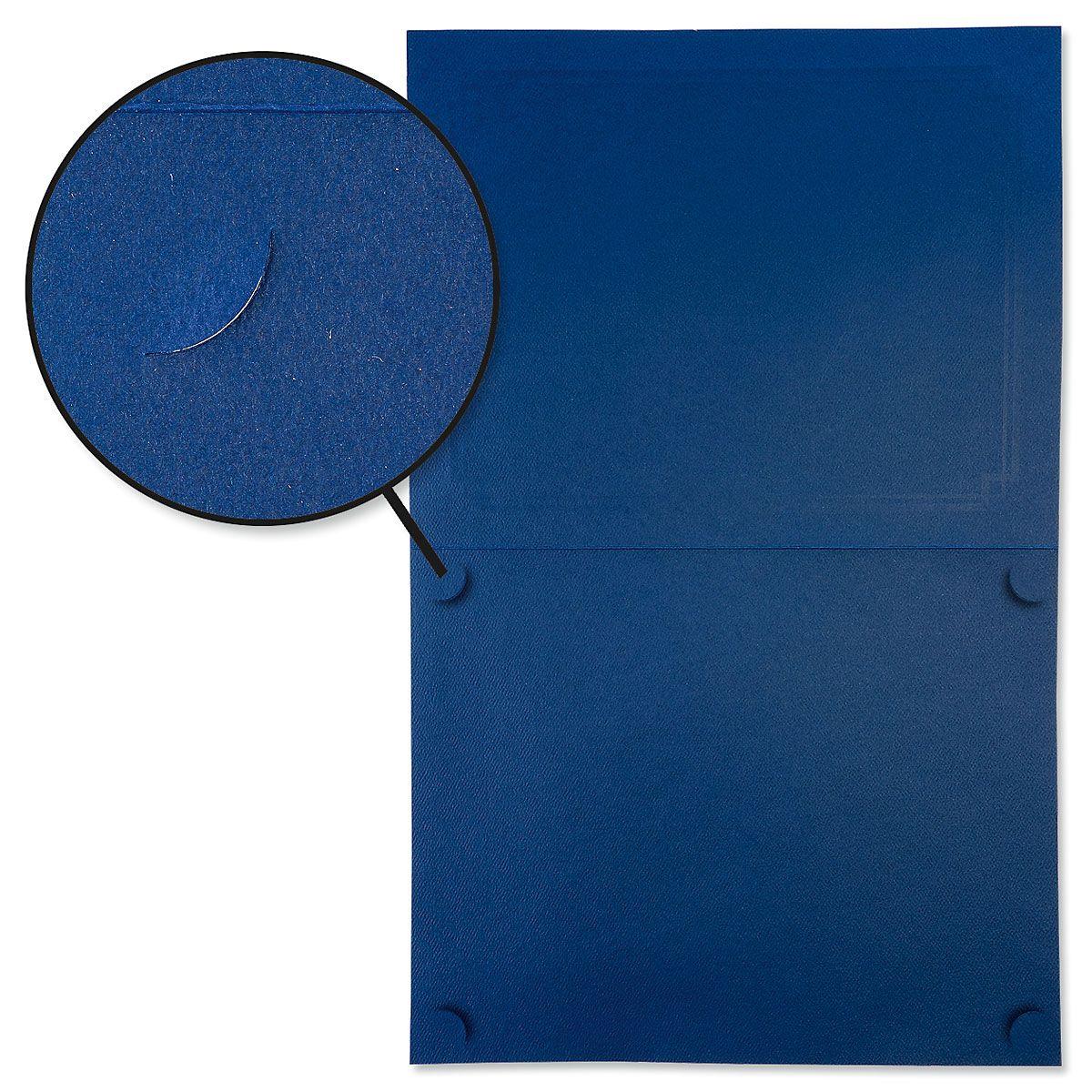 Ornate Blue Certificate Folder with Silver Border/Crest - Set of 50