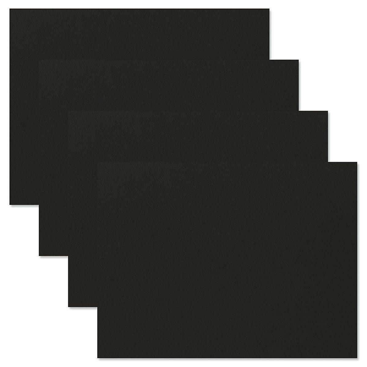 Plain Black Certificate Folder - Set of 50