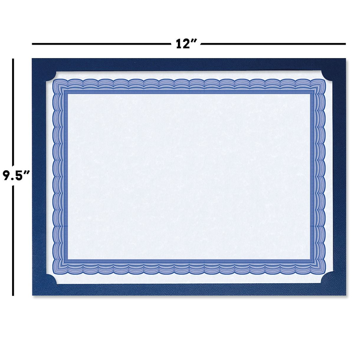 Plain Blue Certificate Holders - Set of 50