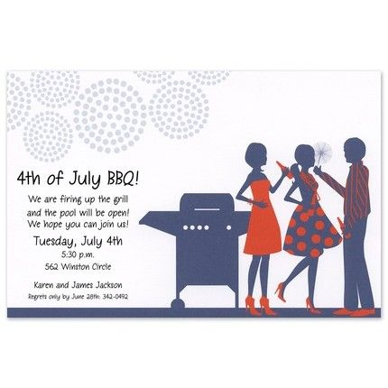 July BBQ Invitation
