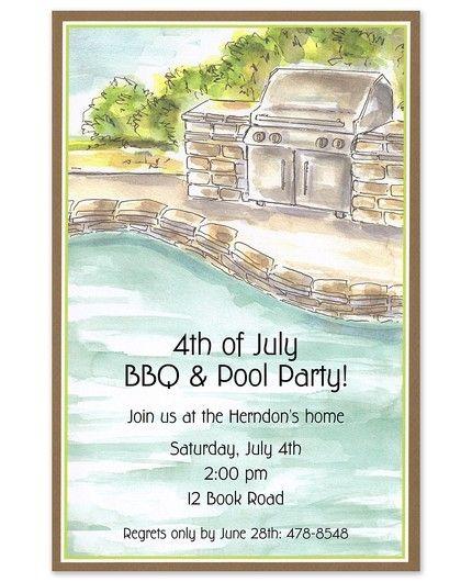 Poolside Grill Invitation