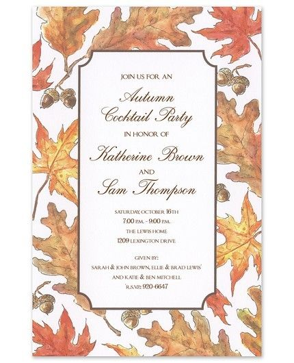 Crisp Leaves Invitation