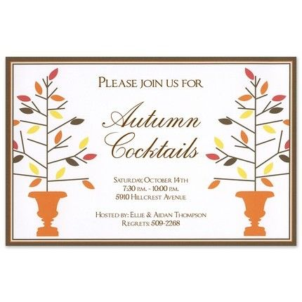 Autumn Topiaries Invitation