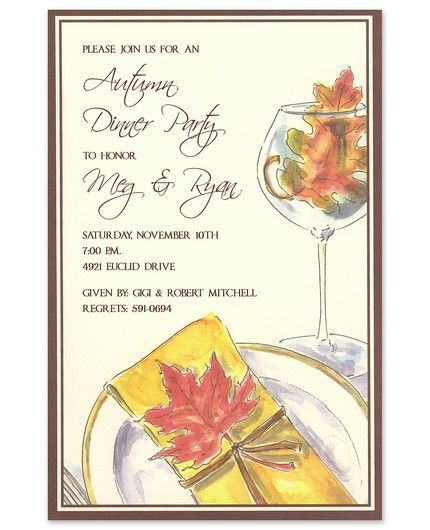 Leaf Dinner Invitation
