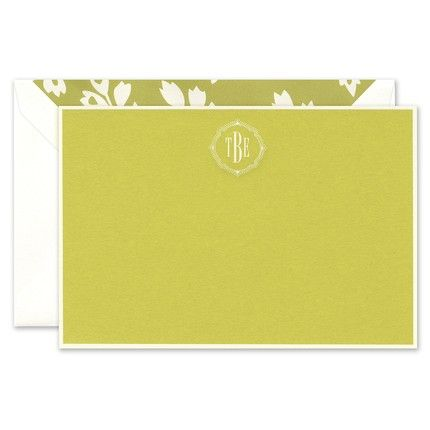 Chartreuse Flat Card
