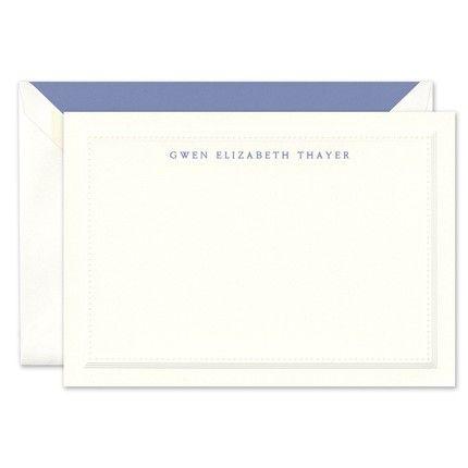 Grosgrain Border Flat Card
