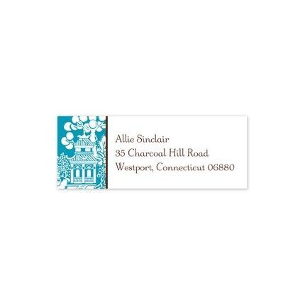 Chinoiserie Address Label