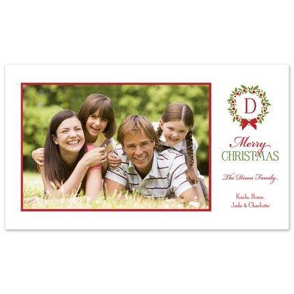 Festive Wreath Photo Card