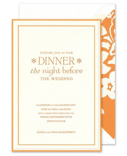 Tangerine Border Invitation