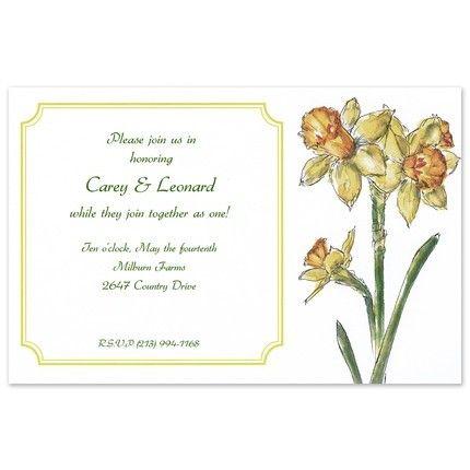 Daffodil Invitation