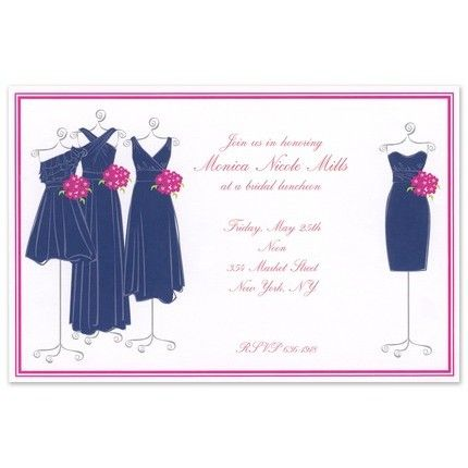 Navy Maids Invitation