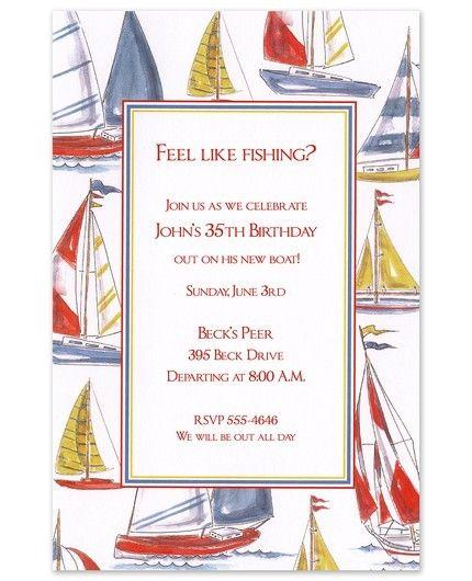 Sailing Invitation