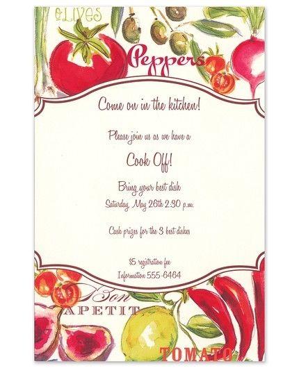 Cucina Invitation