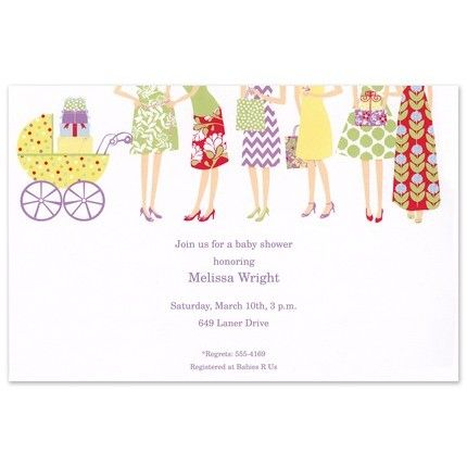 Showering Baby Invitation
