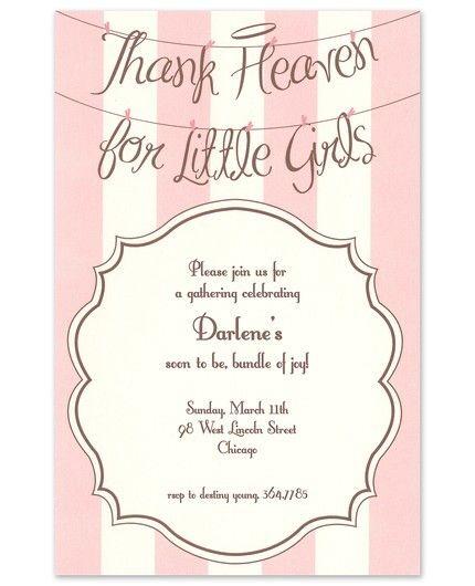 Angel Girls Invitation