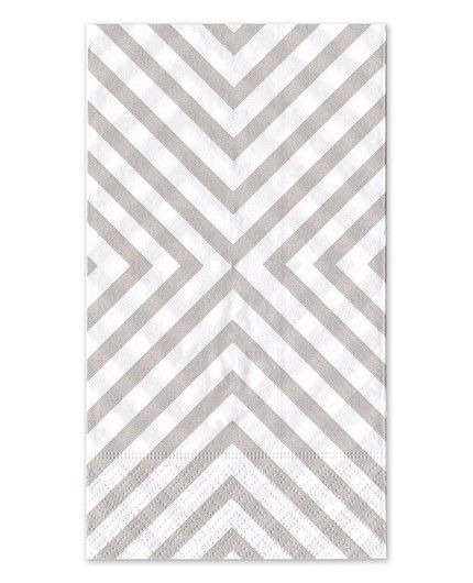 Grey Chevron Guest Napkin