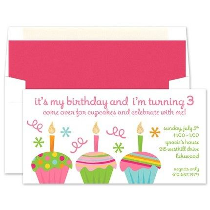 Pink Cupcakes Invitation