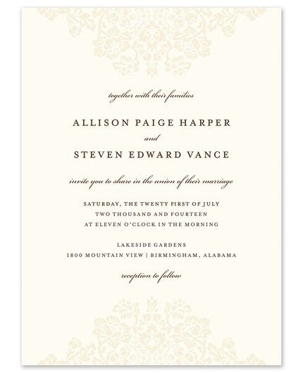 Wedding Bliss Invitation