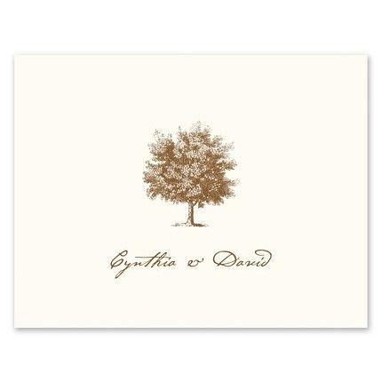 Under The Oak Note Card