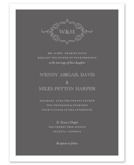 Sophisticated Invitation