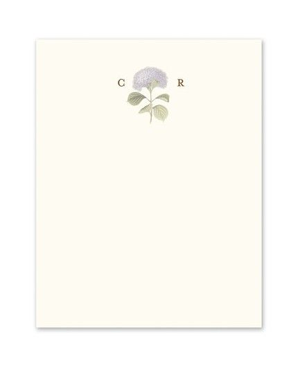 Hydrangea Bloom Flat Card