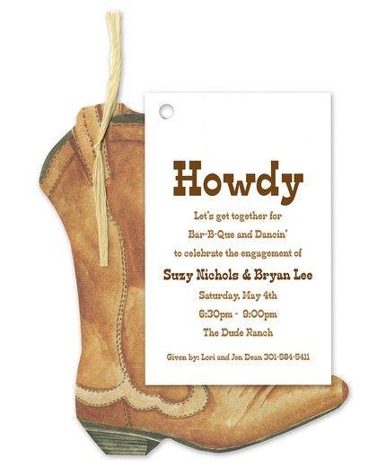 Western Boot Invitation