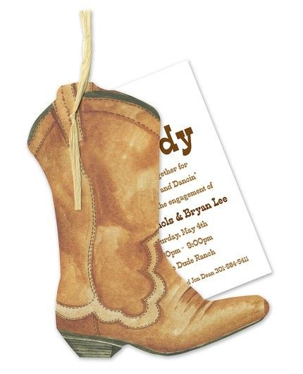 Western Boot Invitation