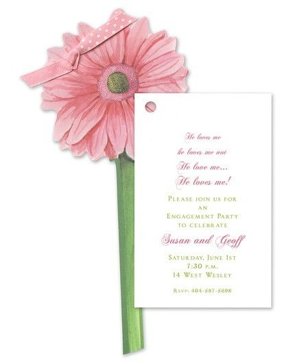 Gerber Daisy Invitation