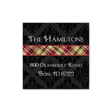 Christmas Wrap Address Labels