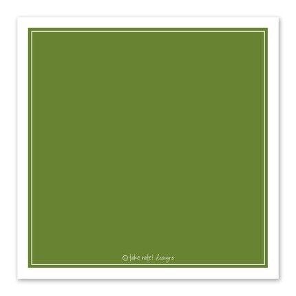 Green Flourish Greeting Card