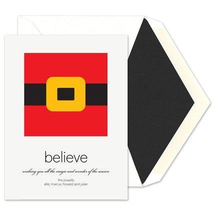 Santa Belt Greeting Card