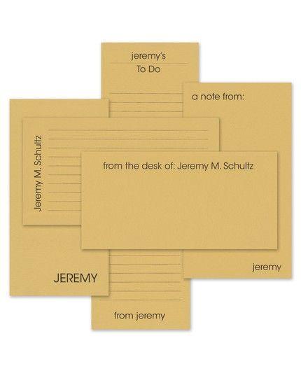 Tan Line Note Pad Set