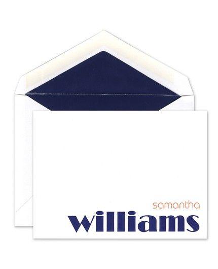Tangerine & Blue Flat Card