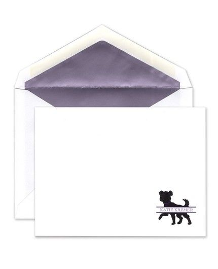 Small Dog Flat Card