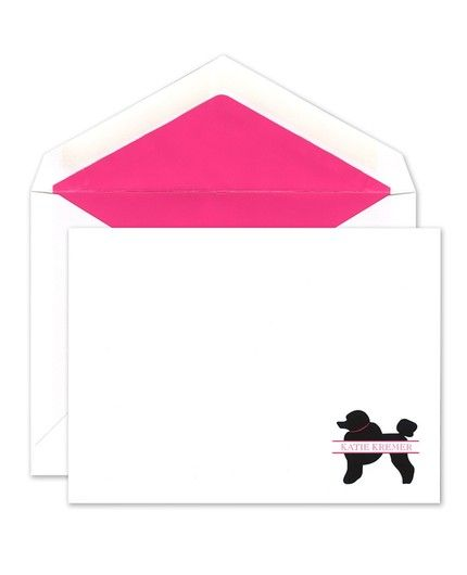 Poodle Flat Card