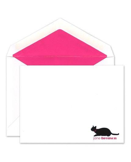 Pink Cat Flat Card