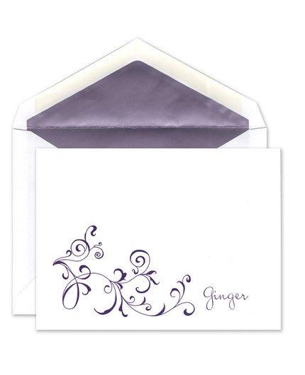 Whimsical Vines Flat Card