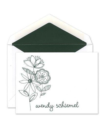 Flower Garden Flat Card