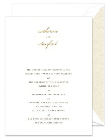 Country Club Invitation