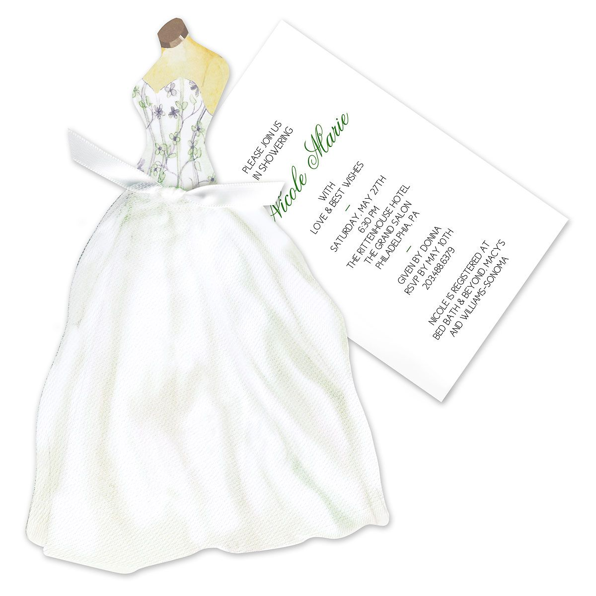 Floral Gown Invitation
