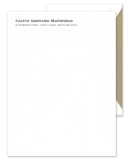 Classic Business White Letterhead