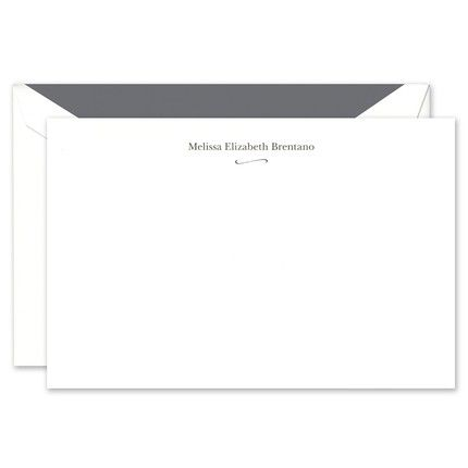 White Simple Flourish Flat Card