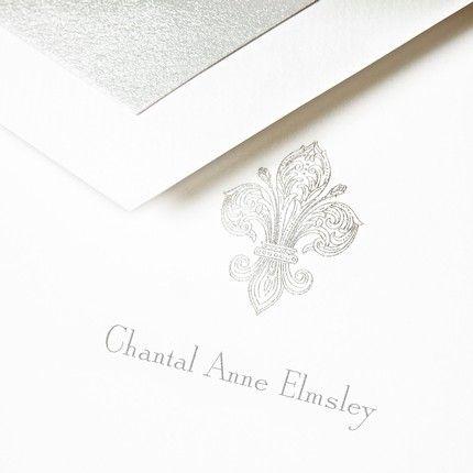 Fleur De Lis Note Card