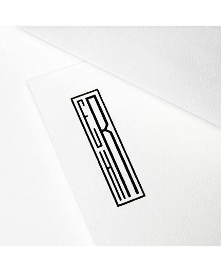 Classic Monogram White Letterhead