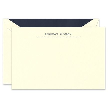 Classic Dots Ecru Flat Card