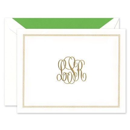 Bordered White Note Card