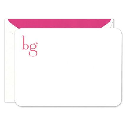 Large Rounded White Card