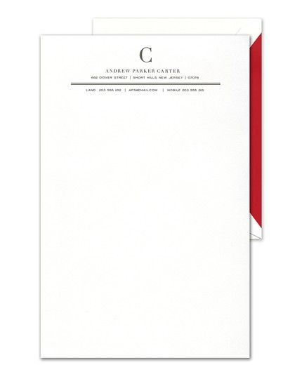 Double-Rule Letterhead