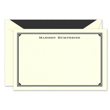 Black Frame Flat Card